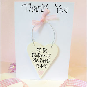 Mother Of The Bride Thank You Card - wedding thank you gifts
