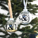 Personalised Initials Bauble