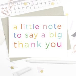 Little Note Thank You Card - thank you cards