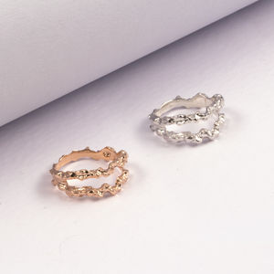 Double Meteor Ring - rings