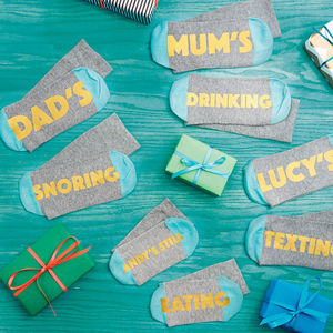 Personalised Funny Socks For All The Family - men's fashion