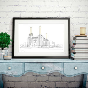 Battersea Power Station Signed Print