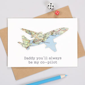 Map Location Aeroplane Travel Card - leaving cards