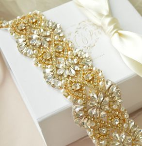 Alexa Gold Bridal Sash - belts