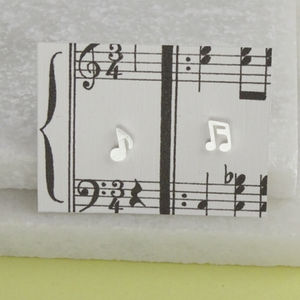 Silver Music Note Earrings - earrings