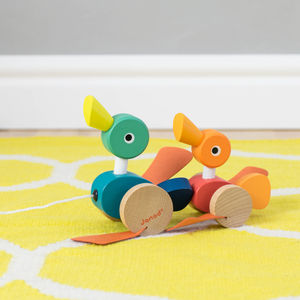 Pull Along Duck Duo - traditional toys
