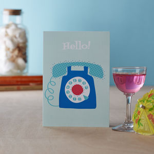 'Telephone' Greetings Card