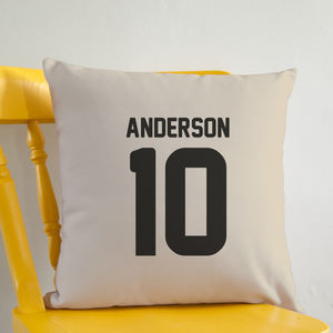 Sports Name And Number Personalised Cushion - cushions