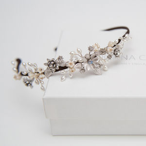 Stella Floral Bridal Headdress - tiaras & hair combs