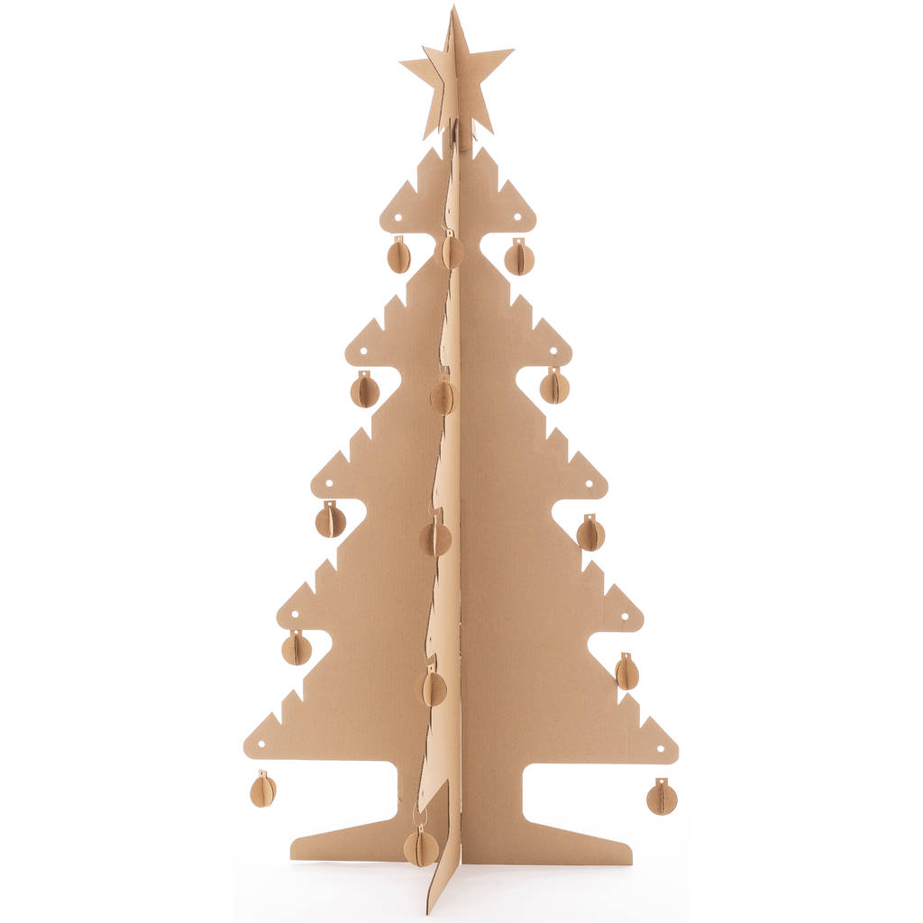Kid Eco Cardboard Christmas Tree Three Pack Brown By Kid Eco