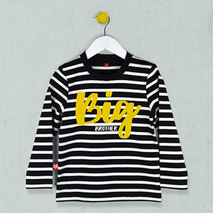 Big Brother Striped T Shirt - clothing