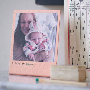 Personalised Solid Copper Photo Print - birthday gifts