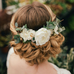 Verity Eucalyptus Hair Comb - med-inspired wedding styling