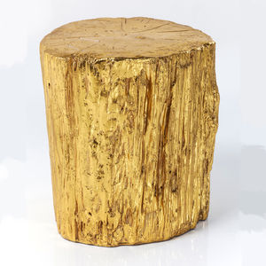 Gold Tree Trunk Side Table - winter sale