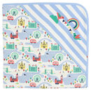 Unisex London Baby Blanket With Integrated Hood
