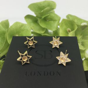 Gold Vermeil Bella Star Studs - earrings