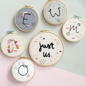 Modern Love Embroidered Hoop
