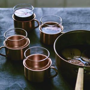 Maebry Copper Punch Mugs, Set Of Four - home