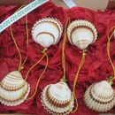 Jingle Shells Handmade Set Of Six Christmas Decorations