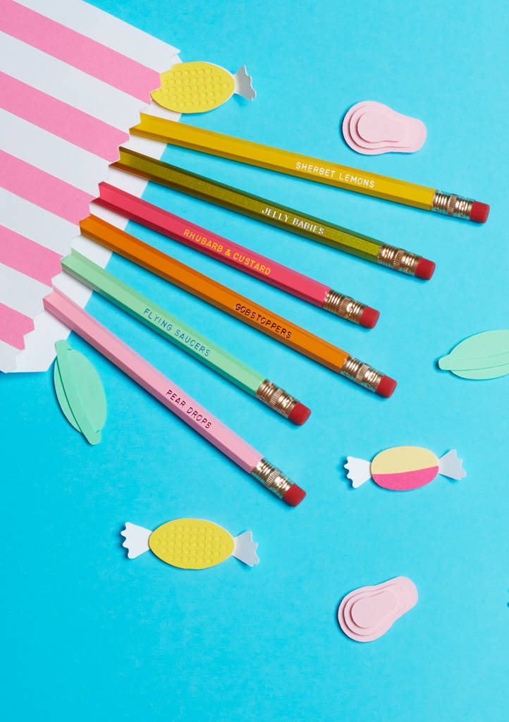 old fashioned penny sweets pencils by i am a