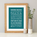 Teal background with A4 oak frame