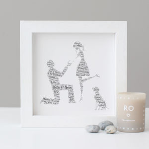 Personalised Engagement Gift With Dog