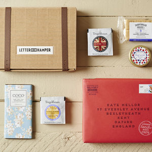 Afternoon Tea Letter Box Hamper With British Grown Tea - alcohol free hampers