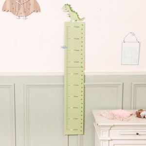 Buddy The Friendly T Rex Childrens Height Chart - baby's room