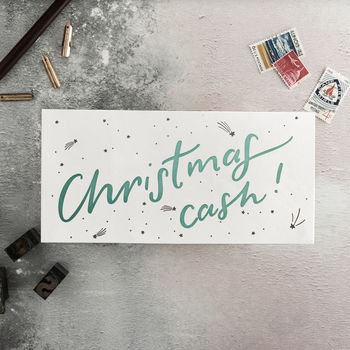 'Christmas Cash' Letterpress Money Wallet Card