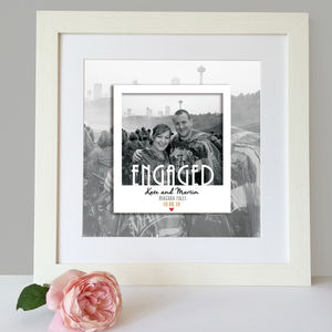 Personalised Engagement Polaroid Print - photography & portraits