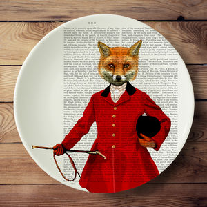 Fox Hunter Bone China Serving Platter - tableware