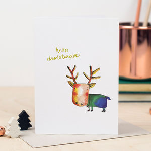'Christmoose' Moose Christmas Card - shop by category