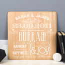 Personalised Wood Anniversary Print