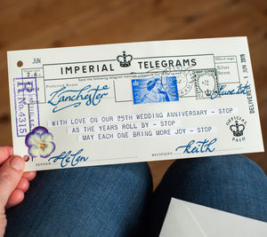 Wedding Anniversary Telegram Keepsake - best anniversary gifts