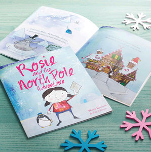 Personalised North Pole Christmas Adventure Book - story books