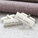 Personalised Mens Silver Cufflinks