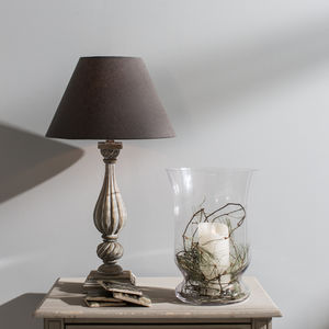 Mowbray Tear Drop Style Ribbed Lamp - living room
