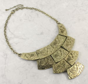 Antique Gold Metal Collar Necklace - new in jewellery
