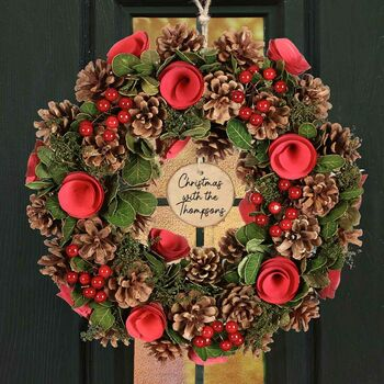 Winter Garden Personalised Christmas Wreath