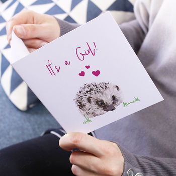 It's A Girl Announcement New Baby Card