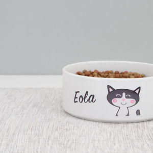 Cat Bowl Personalised - food, feeding & treats