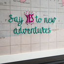 Say Yes To New Adventures Map Notice Board