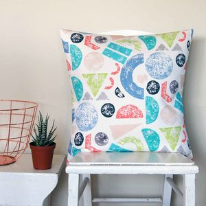Large Square Farm Geometric Cushion