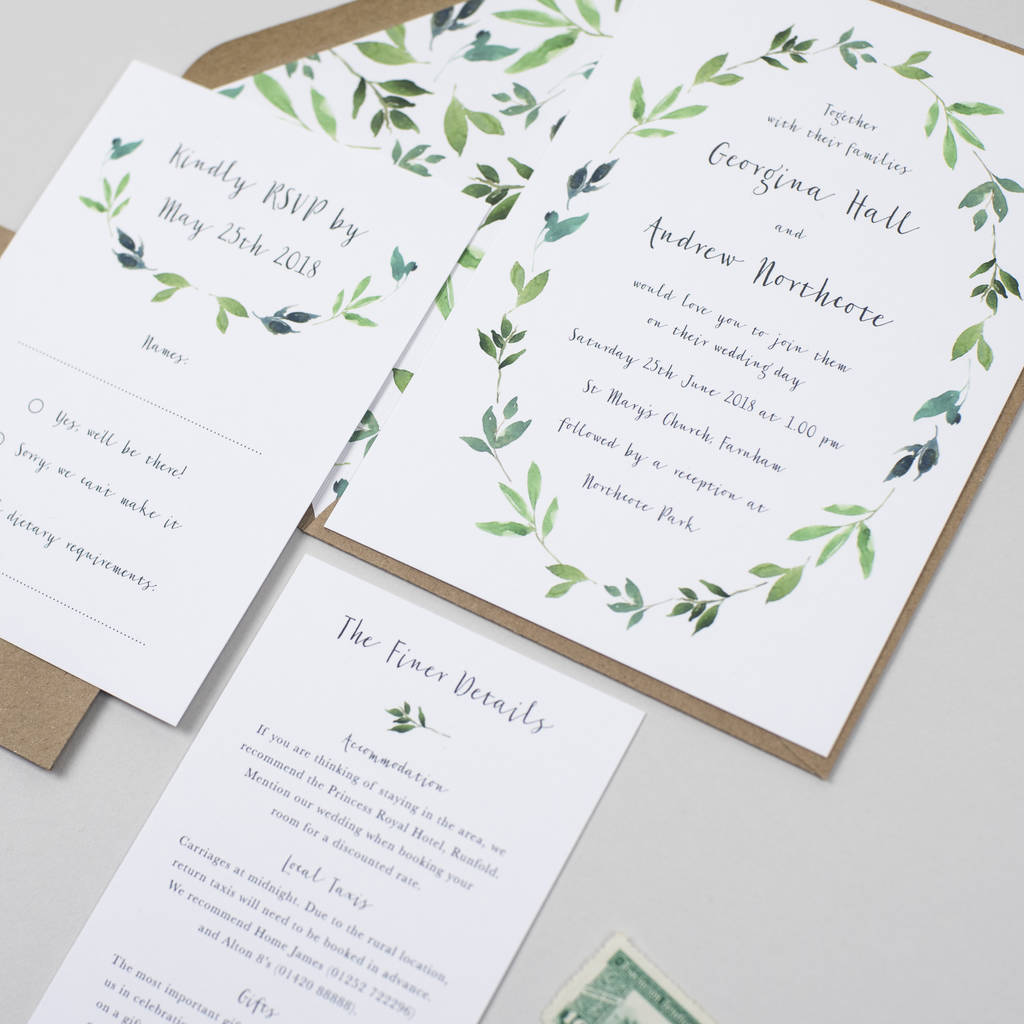 botanical garden wedding invitation by pear paper co ...