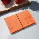 Personalised Orange Italian Leather Notebook