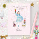 Personalised Nutcracker Christmas Card 'Clara'