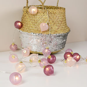 Mauve And Pink Lotus String Lights - home sale