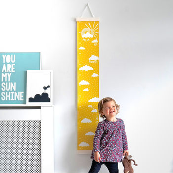 Personalised Dream Big Canvas Height Chart