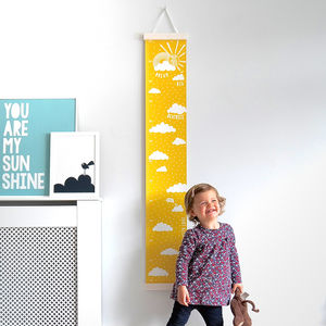 Personalised Dream Big Canvas Height Chart - the 'no pink or blue' children's collection