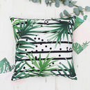 Leaves And Stripes Botanical Cushion